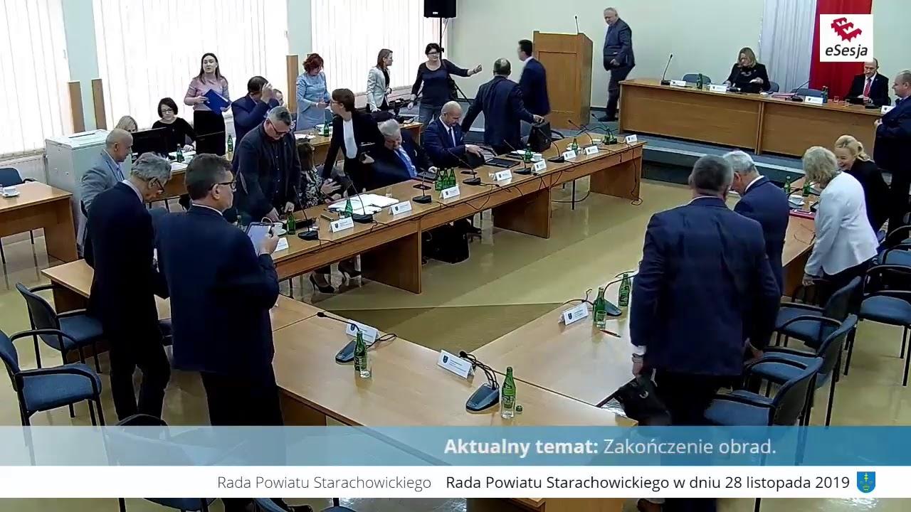 XV Sesja Rady Powiatu w Starachowicach 28.11.2019r.