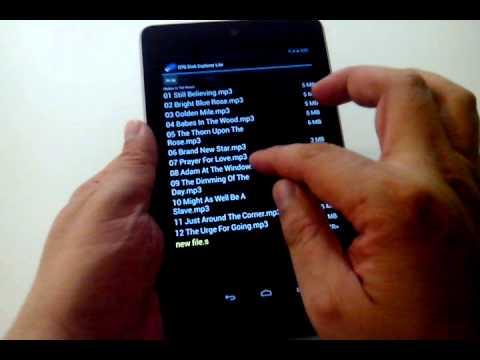 Video of OTG Disk Explorer Lite
