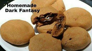 ♨കുട്ടികളുടെ പ്രിയപ്പെട്ട ബിസ്ക്കറ്റ്/Homemade Dark Fantasy Choco Fills Cookies✔