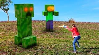 Real Life Minecraft vs Pacman 2