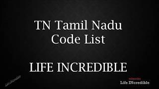 TN Tamil Nadu Code list