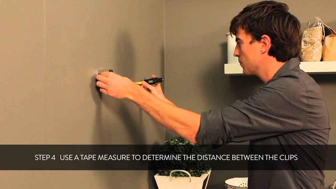 HOW TO: fixing a Duraline clip to your wall