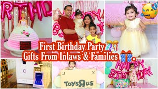 One Year BIRTHDAY PARTY Celebration ,GIFTS FROM InLaws & Parents FOR BABY GIRL ANIKA In Singapore