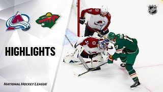 NHL Exhibition Highlights | Avalanche @ Wild 7/29/20