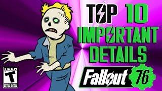 Fallout 76 Top10 Important Details