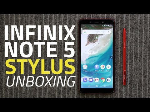 Infinix Note 5 Stylus Unboxing and First Look