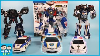Hello Carbot Police car Avante Pron Giant and Mini transformation unboxing toys review!