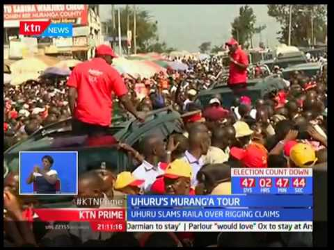 President Uhuru Kenyatta accuses NASA's flag bearer Raila Odinga of panicking