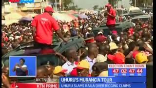 President Uhuru Kenyatta accuses NASA's flag bearer Raila Odinga of panicking