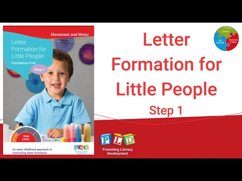 Letter Formation for Little People - Step 1 Foundation Font (eBook)