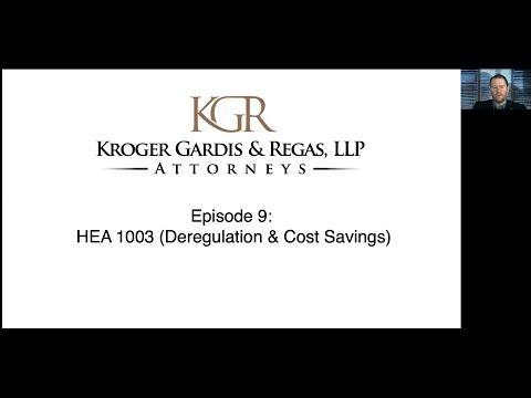 Episode 9 – HEA 1003 (Deregulation & Cost Savings)