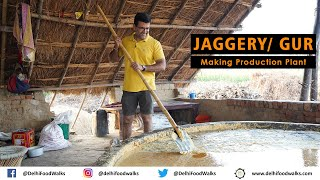 Traditional Jaggery/Gur Making Production Unit in India I Jaggery Making step by step explanation