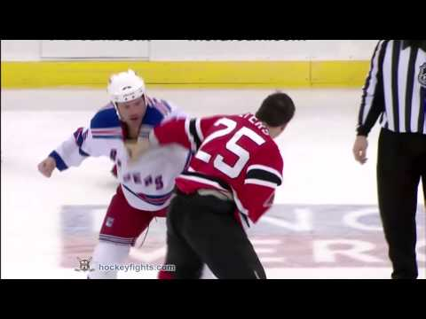 Jody Shelley vs Andrew Peters