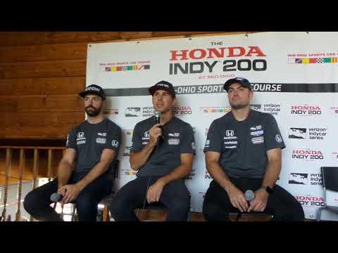 2018 IndyCar Mid Ohio Schmidt Peterson Press Conference