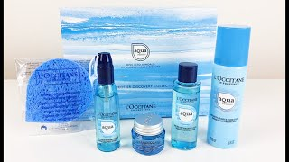 L'OCCITANE NEW AQUA RÉOTIER HYDRATION COLLECTION 2018 FOR DEHYDRATED SKIN CARE