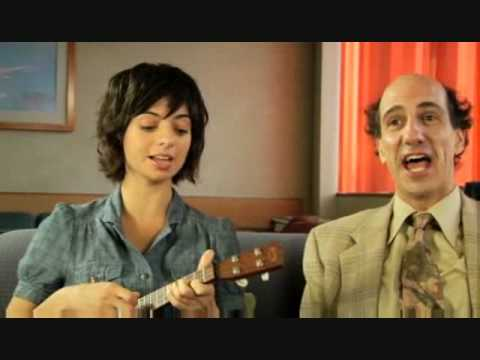 "Sam Lloyd (Lawyer Ted) and Kate Micucci (Gooch) sing ""Screw You"" on an episode of Scrubs"