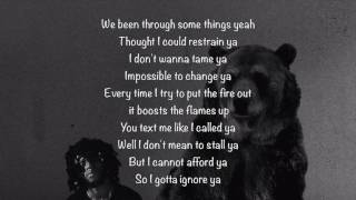 6LACK   Ex Calling (Lyrics)
