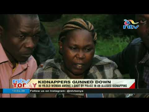 80 year old woman among 3 shot by police in an alleged kidnapping