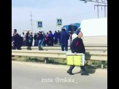 Дагестанские торговцы Куядинского рынка перекрыли федеральную трассу
