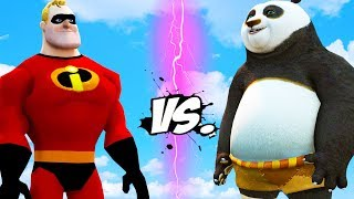 KUNG FU PANDA VS THE INCREDIBLES - Mr. Incredible vs Po