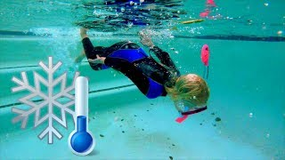 Swimming in Freezing Cold Water with a Wetsuit - Video Youtube