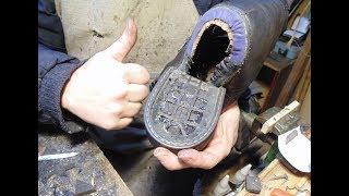 запаковка каблука, ремонт обуви