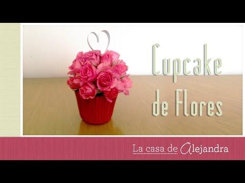 Regalo de Cupcake de Flores  DIY Alejandra Coghlan