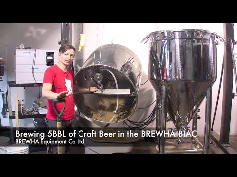 Brewing 5BBL of Craft Beer in the BREWHA BIAC BREWHA BIAC All in One brewing system