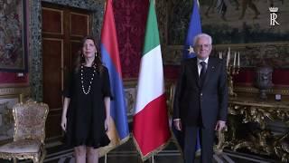 Посол Цовинар Амбарцумян вручила верительные грамоты Президенту Итальянской Республики