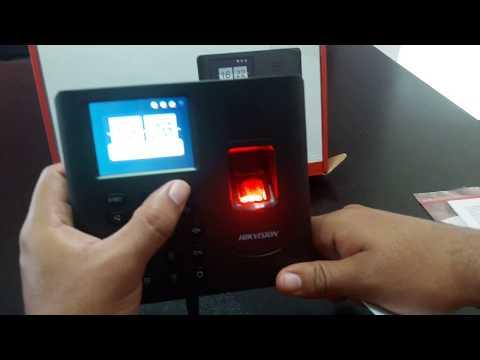 Programación de reloj para control de asistencia Hikvision-Directo en el Dispositivo sin Software