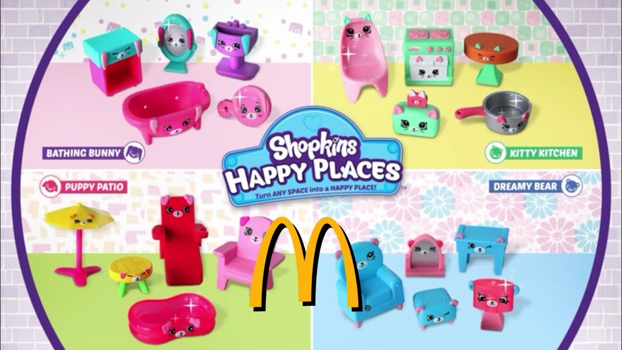 New McDonalds Happy Meal 2018 Shopkins Happy Places
