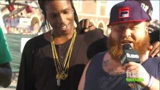 Action Bronson Interrupts A$AP Rocky at Bamboozle Festival 2012