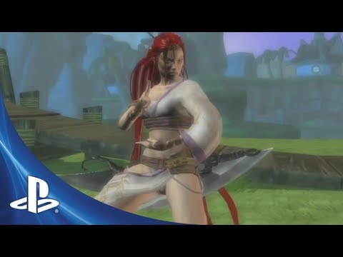 Heavenly Sword's Glorious Nariko And Some Guy With A Skull Head Join The PlayStation All-Stars Battle Royale