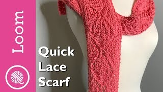 Loom Knit | Quick Lace Scarf (Lg Diamond Pattern)