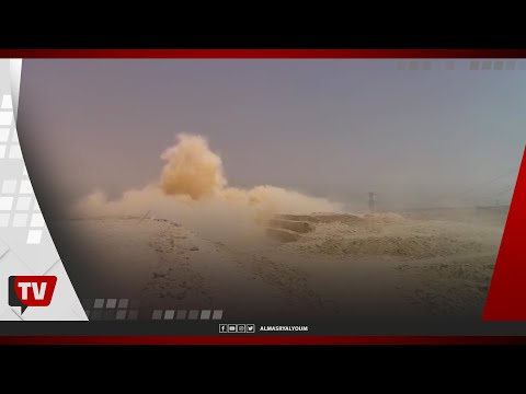 لحظة تفجير موقع حفر القطار السريع بقطاع العاصمة الإدارية