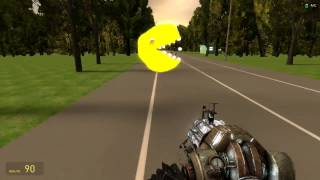 Gmod with Friends and a evil Pacman?