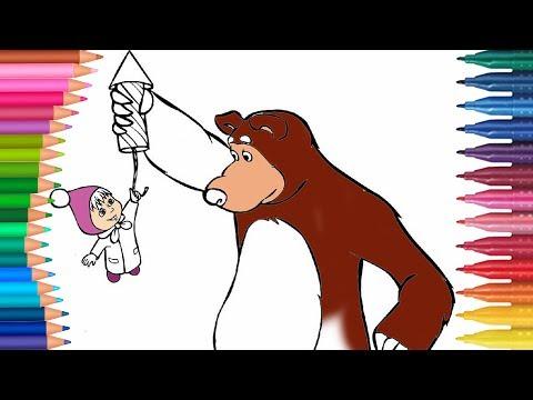 Maşa Ve Koca Ayı Boyama Maşa Ve Koca Ayı Nasıl Boyanır Coloring