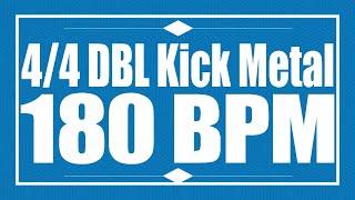 180 BPM   Double Kick METAL   44 Drum Track   Metronome   Drum Beat