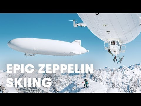 First Ever Ski Drop From a Zeppelin