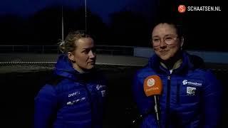 Een-tweetje voor Berber Vonk en Maya de Jong: 'Lastig inhalen op deze piste'