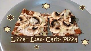 Ich probiere heute die Lizza= Low- Carb- Pizza!