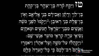 Aliya yomi Korach 1st Aliya part 1 (daily Aliya) with rabbi Yirmeyah ben Avrom