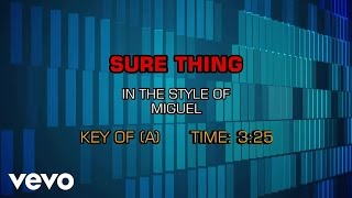 Miguel   Sure Thing (Karaoke Smash Hits Vol. 1)
