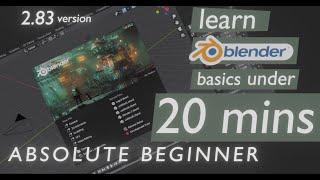 Learn BLENDER 2.83 basics in 20 MINUTES   Blender for Beginners