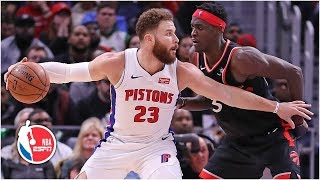 Blake Griffin and Andre Drummond lead Pistons to 110-107 win vs. Raptors | NBA Highlights