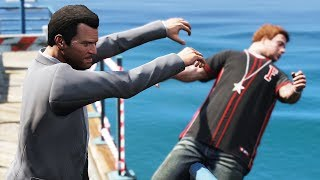 GTA 5 Shoving Peds Episode 1 (Euphoria Showcase)