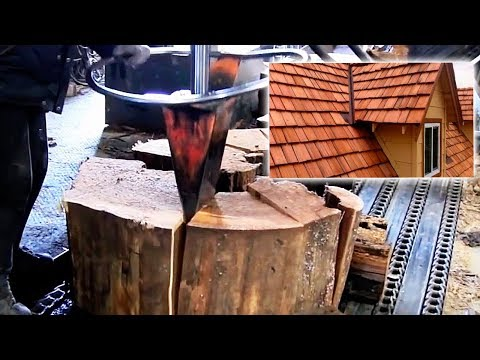 The process of production of wooden shingles. Technology