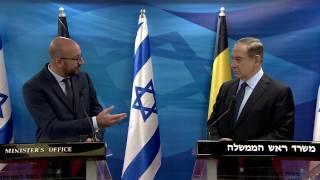 PM Netanyahu Meets Belgian PM Charles Michel