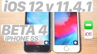 iOS 12 BETA 4 vs. iOS 11.4.1 SPEED Test + BATTERY + BENCHMARK! (iPHONE 5S) #iOS12 #iPhone5S #iOS1141