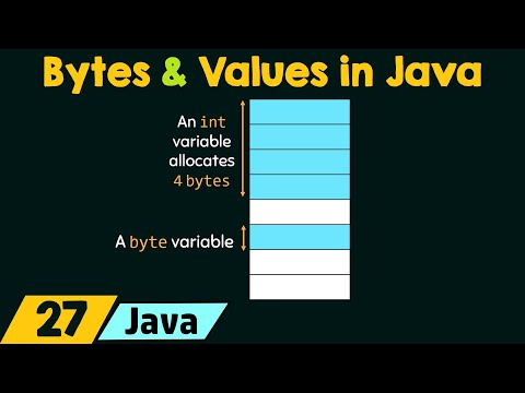Bytes and Values in Java